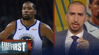 Nick Wright isn't buying KD will stay with Warriors after Draymond spat | NBA | FIRST THINGS FIRST