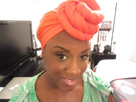 Natural Hair | Turban Bun Tutorial