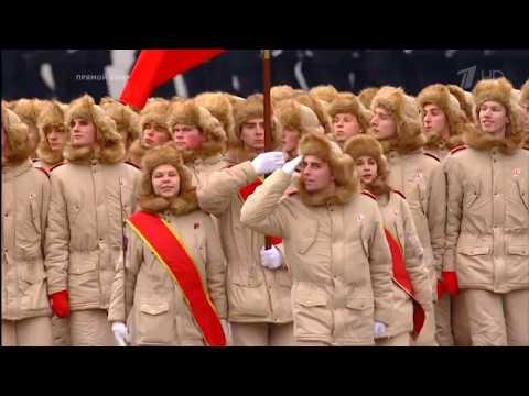 Москва. Красная площадь. Торжественный марш, посвященный 76-й годовщине парада 7 ноября 1941 года