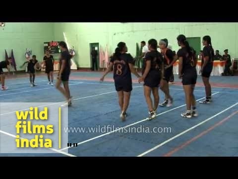 Girls Kabaddi final in progress
