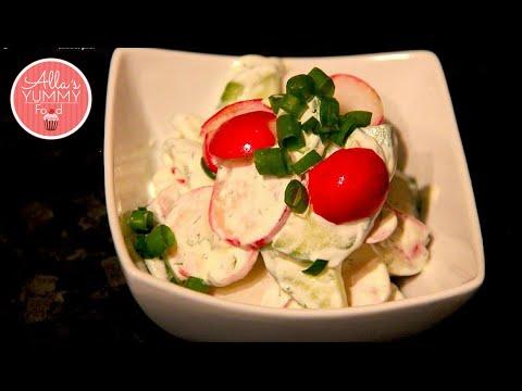 Healthy Cucumber & Radish Salad Recipe- Здоровый Летний салат Рецепт