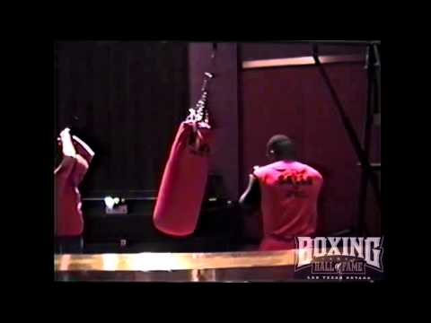 Mike Tyson Pounds Heavy Bag Training Biggs Part 1