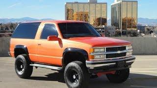 RARE 1998 Chevrolet 2 Door Tahoe 4x4 Lifted Z71 Custom Truck for sale!