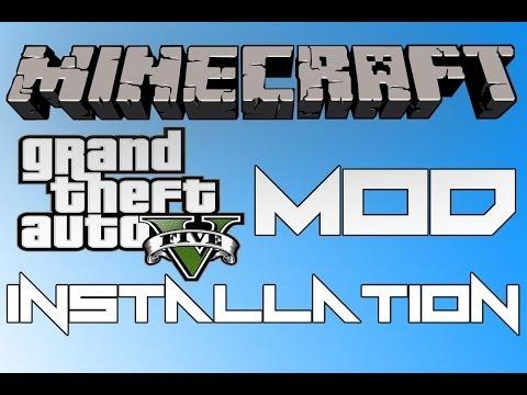 Minecraft 1.6.4 - How To Install GTA 5 mod for minecraft ! (Flans mod) GRAND THEFT AUTO V