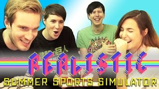 Dan Phil Felix and Marzia play REALISTIC SUMMER SPORTS SIMULATOR!