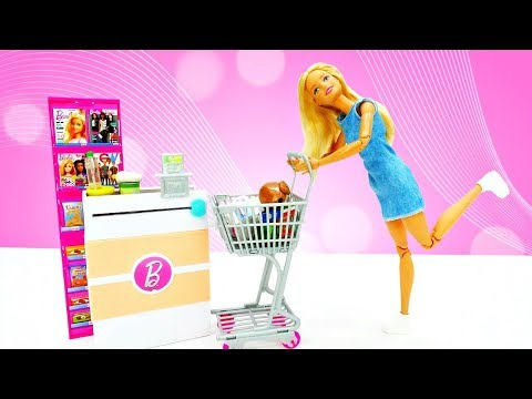 Барби и Кен в магазине. Шоппинг с Барби - Видео для девочек