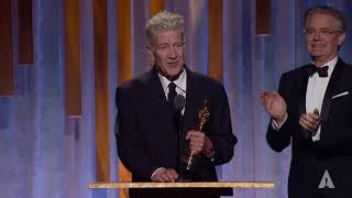 David Lynch receives an Honorary Award at the 2019 Governors Awards