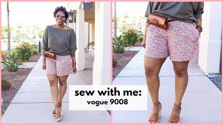 SEW WITH ME: VOGUE 9008: MISSES SHORTS