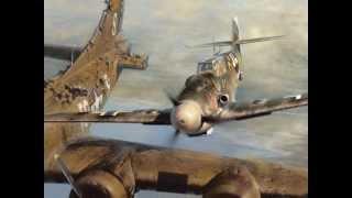 Bf 109 pilot Franz Stigler and B-17 pilot Charlie Brown