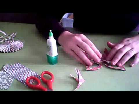 D co de noel toile en origami youtube - Decoration de noel en origami ...