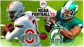 NCAA FOOTBALL 19 🏈#10 Ohio State vs #18 Michigan State (NCAA 14 Updated Rosters)