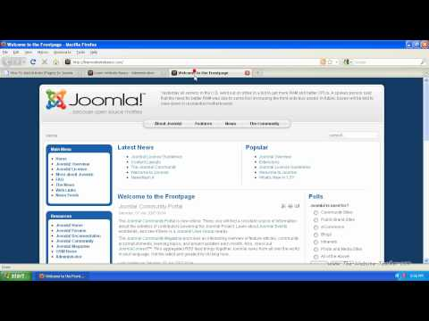 How To Add Articles (Pages) In Joomla 1.5