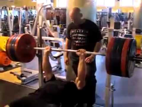 Konstantin Konstantinovs - 485 lb x 3 Raw Bench Press, Paused.