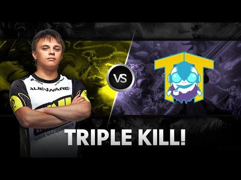 Triple kill by Funn1k vs Team Tinker  D2CL S4