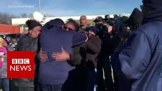 Tearful reunion after wronged man freed 23 years on - BBC News
