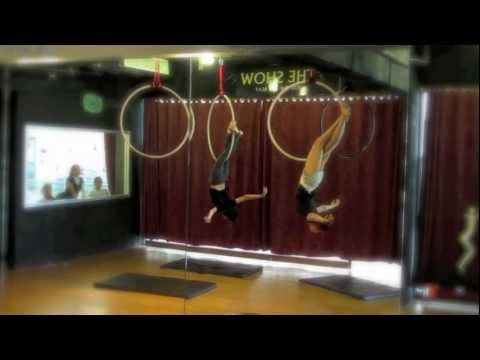 aerial hoop by the show- what a wonderful world