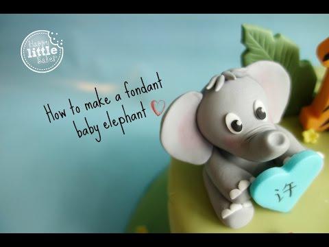 How to make a fondant baby elephant