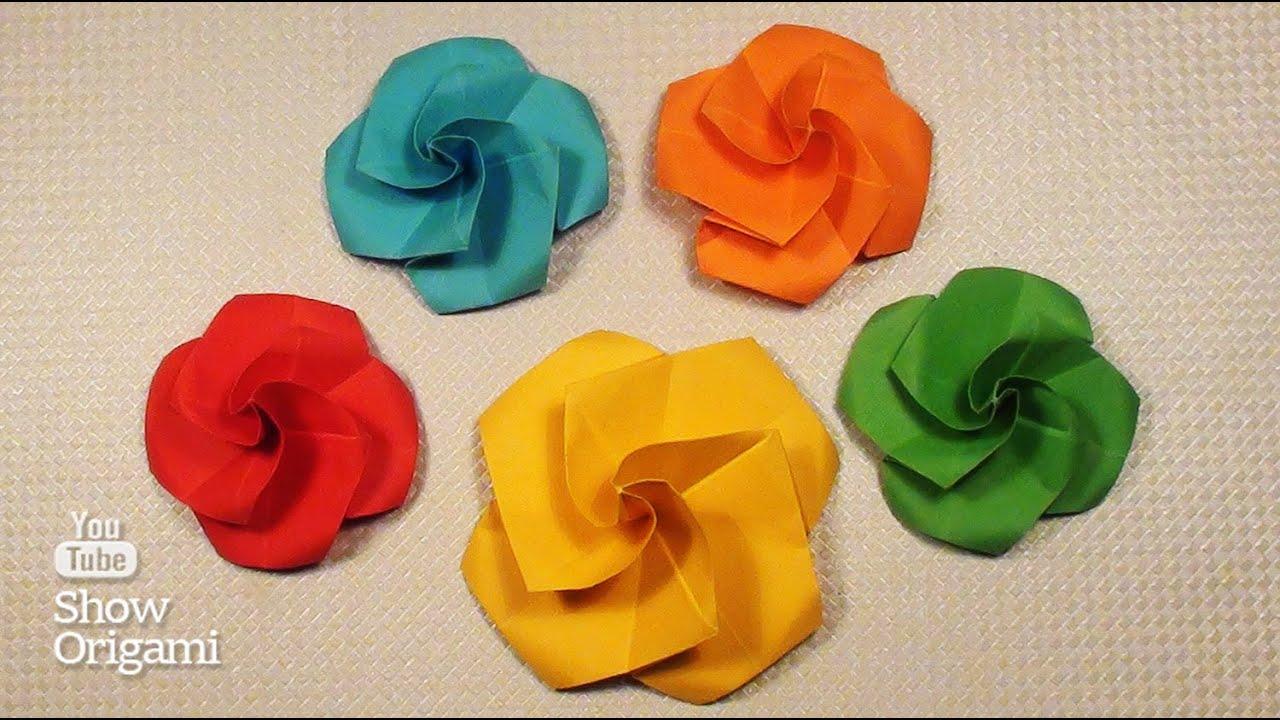 Как сделать маленького розу из бумаги