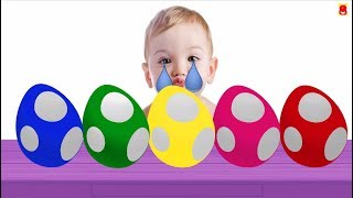 Leam Colors For Children - Colours With Dinosaur Eggs - Learn Colors With Baby Crying and Laughing.
