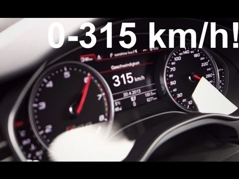 Audi RS6 (2013) from 0 - 315 km/час!