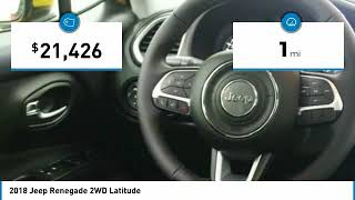 2018 Jeep Renegade Holzhauer Auto and Motorsports Group H14432