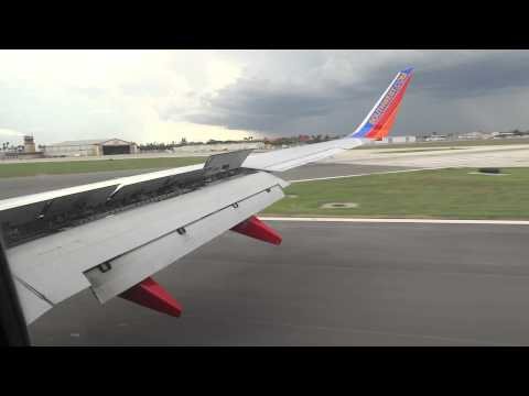 Southwest Airlines Landing At Harlingen Valley International Airport
