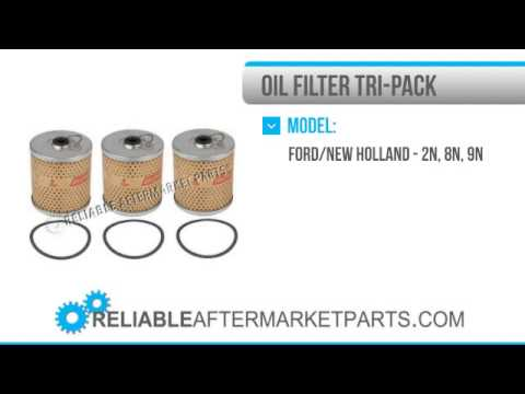 1790 APN18649B New Ford Tractor 2N 8N 9N Oil Filter Tri Pack Set of 3 APN6731B