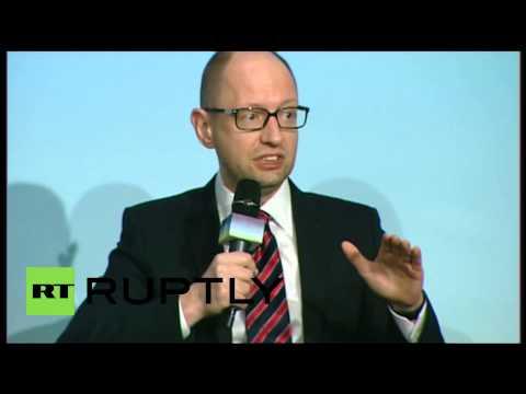 Ukraine׃ PM Yatsenyuk Complains Greece received more money than Ukraine. English.؟