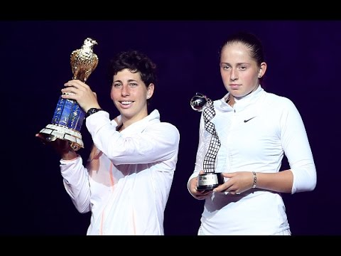 2016 Qatar Total Open Final WTA Highlights | Carla Suarez Navarro vs Jelena Ostapenko