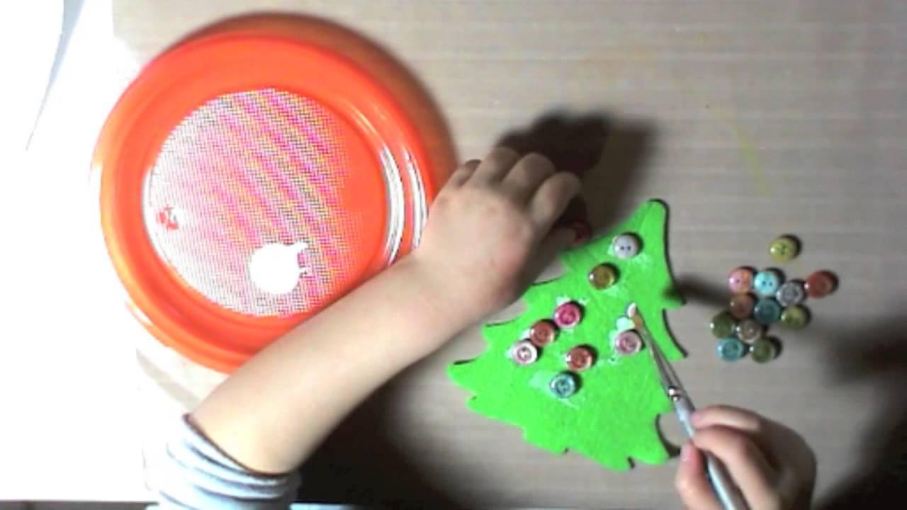 Lavoretti di natale per bambini alberello in pannolenci for Youtube lavoretti per bambini