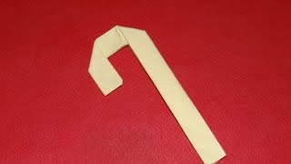 How To Make An Origami Christmas Candy Cane