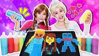 [Elsa VS Anna] Pancake Art Challenge Frozen Edition -Jini