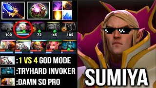 EPIC Shit 1 vs 4 SumiYa Invoker Mastered Ultra Instinct Craziest Combo Ever WTF Dota 2
