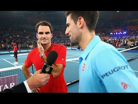 Highlights  Roger Federer vs Novak Djokovic IPTL 2014