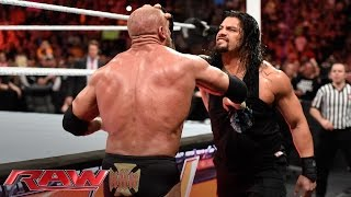 Roman Reigns Brutalizes Triple H Raw March 14 2016 VideoMp4Mp3.Com