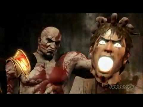 Kratos vs Helios smashing combat