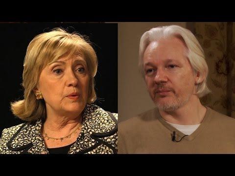 WikiLeaks' Julian Assange Responds to Hillary Clinton: Fair U.S. Trial for Snowden