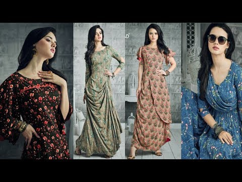 Designer Long Kurti Designs|Latest Long Dress|Latest Designer long one piece dress 2018|TrendyIndia