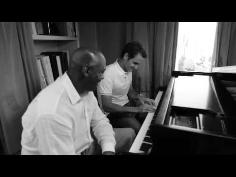 Michael Jordan Meeting Roger Federer for the First Time