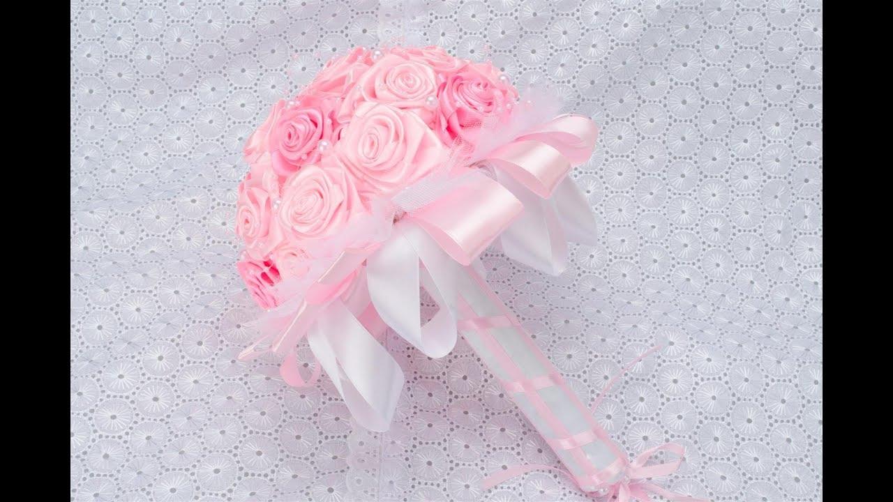 Розы из атласных лент своими 37
