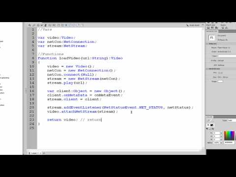 Custom FLV Player in Flash ACTIONSCRIPT 3.0 Part 1