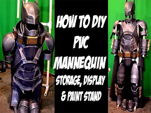How to PVC Stand for storing. Painting EVA foam armor Cosplay Costumes Cheap and Easy
