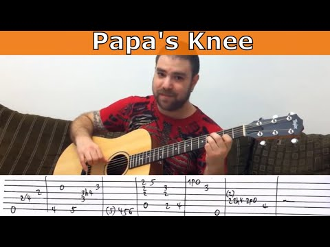 Tutorial: Jerry Reed's Papa's Knee - Fingerstyle Lesson W/ TAB