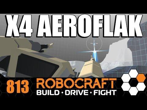 Robocraft 4x Aeroflak Tank Battle Arena
