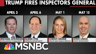 Trump Fires Four Inspectors General In Two Months | All In | MSNBC
