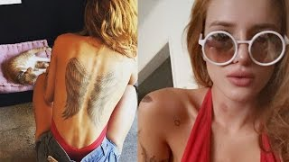 Bella Thorne Shows Off HUGE Back Tattoo & Hickeys from Tyler Posey