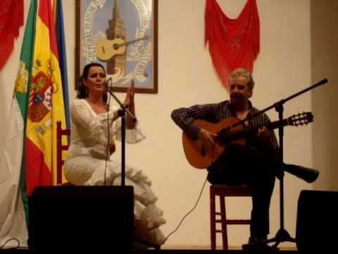 ESTHER MERINO CON PACO CORTES .- BULERIAS EN JEREZ DE LOS CABALLEROS 25-10-2008