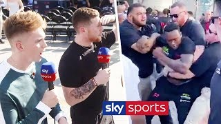 EXCLUSIVE! Viddal Riley & Shannon Briggs clash at weigh in | Joe Weller & Behzinga react