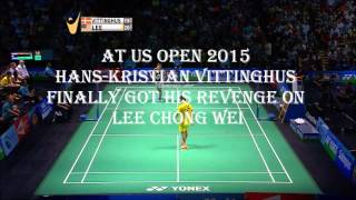 The story of Vitttinghus and Lee Chong Wei - Amazing trick shot and rallies
