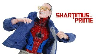 Marvel Legends Stan Lee 2007 SDCC Spider-Man Exclusive Hasbro Action Figure Toy Review